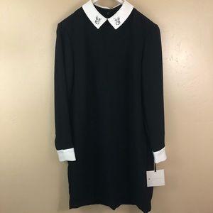 Victoria Beckham Black Rabbit Dress Large NWT